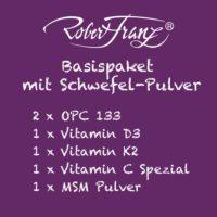 Robert Franz Basispaket mit Schwefel Pulver