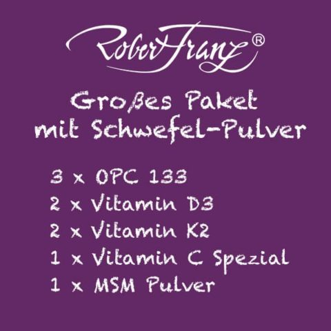 Robert Franz Grosses Basispaket mit Schwefel Pulver